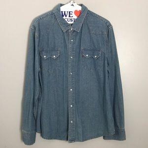 Vintage Levi's Western Denim Shirt Pearl Snap